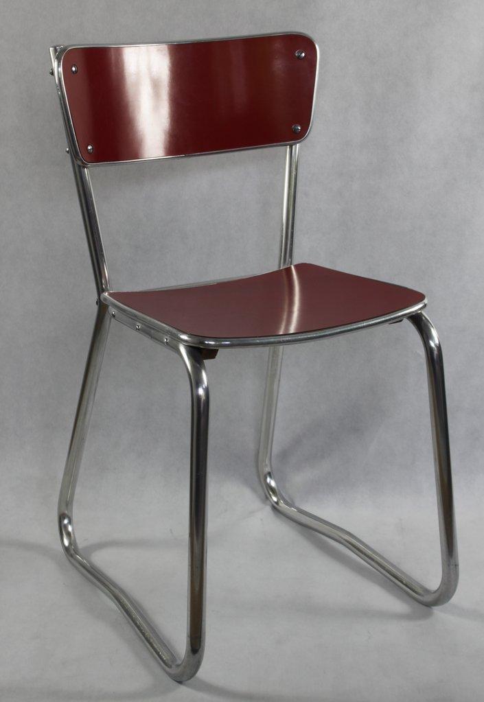 vintage 50er 60er jahre aluminium stuhl industriedesign chair top. Black Bedroom Furniture Sets. Home Design Ideas