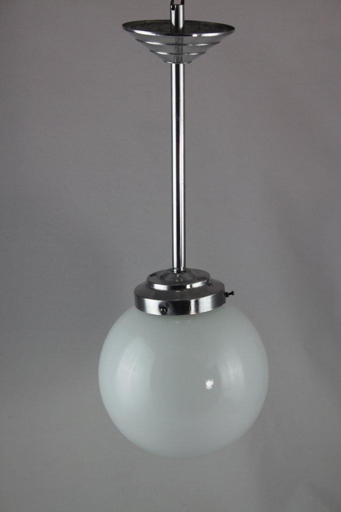 Art Deco Lampe Hangelampe Opalglas O 20 Cm Top Vintage