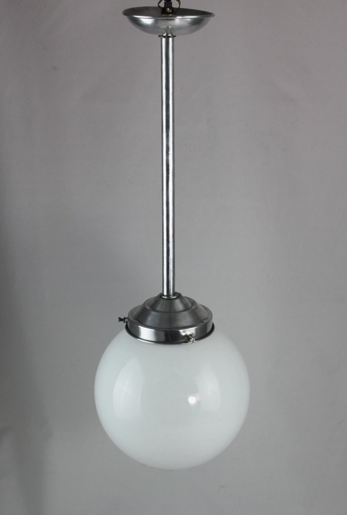 Ø 20 cm - alte ART DECO Hängelampe - Opalglas Lampe -