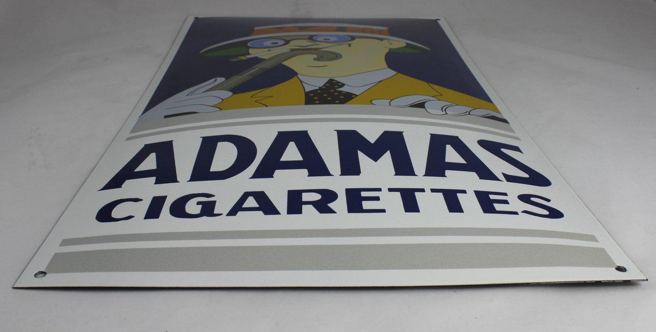 Adamas Cigarettes adamas cigarettes emailleschild - klassiker enamel shield