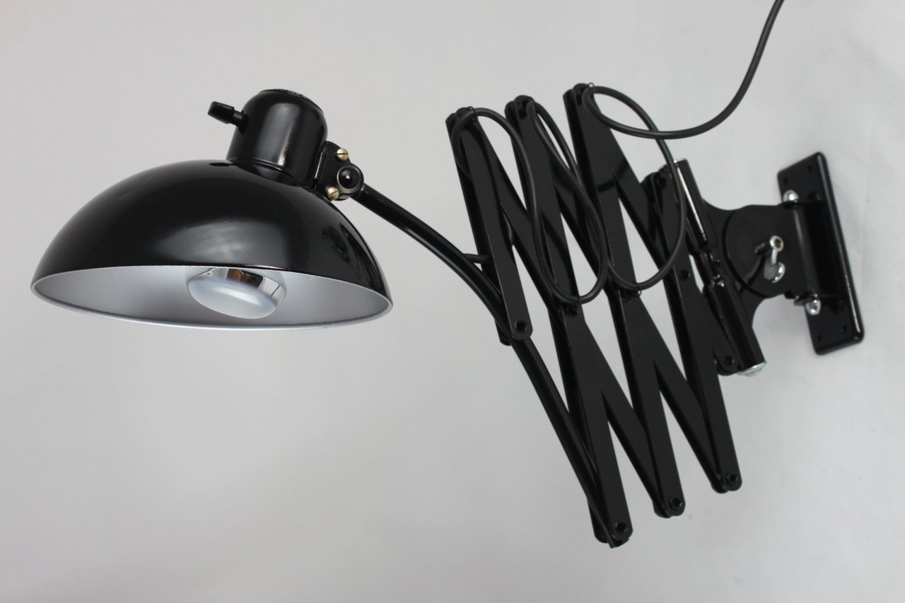 original kaiser idell scherenlampe wandlampe modell 6614. Black Bedroom Furniture Sets. Home Design Ideas