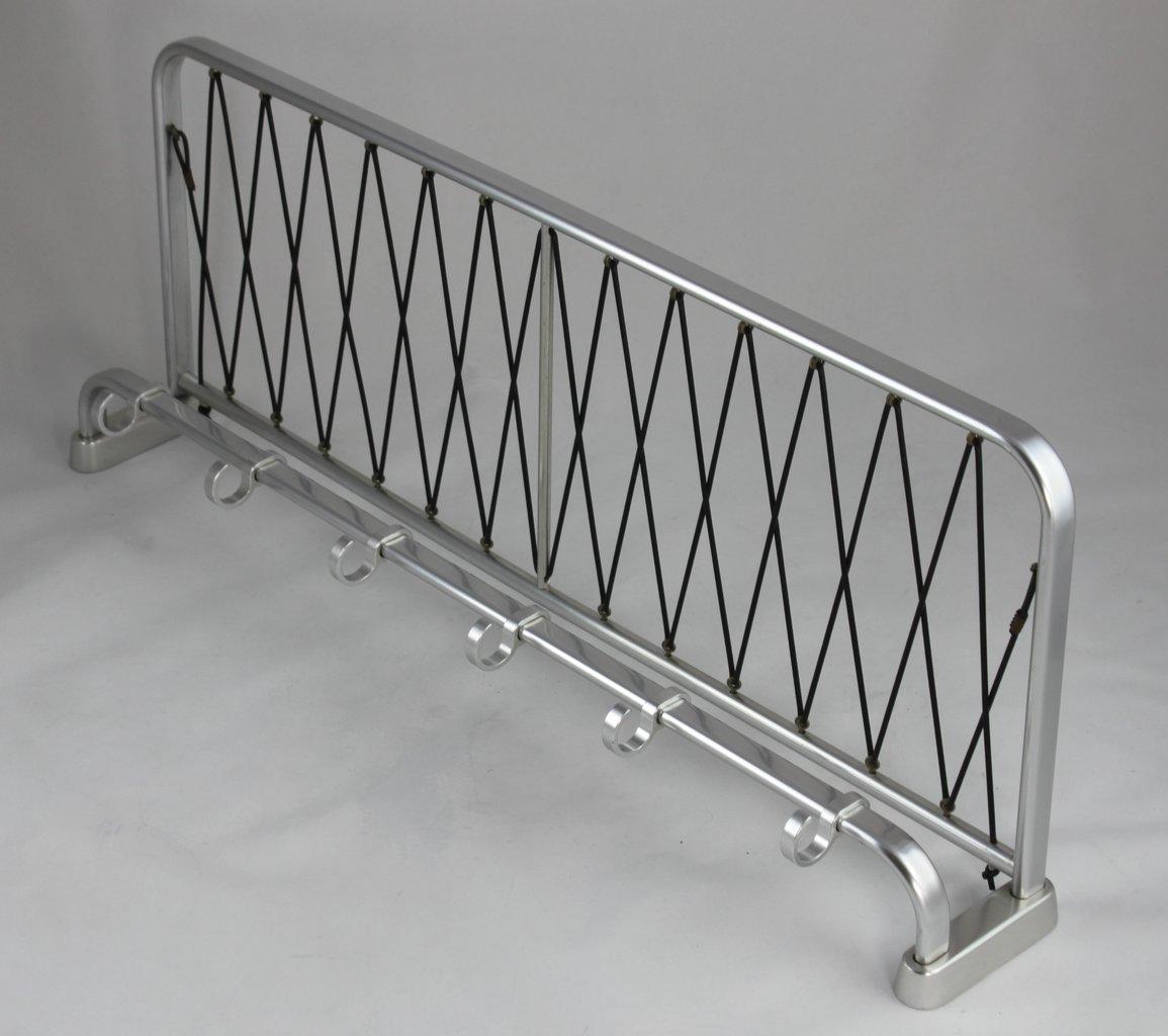 bauhaus wandgarderobe art deco garderobe aluminium 73 cm. Black Bedroom Furniture Sets. Home Design Ideas
