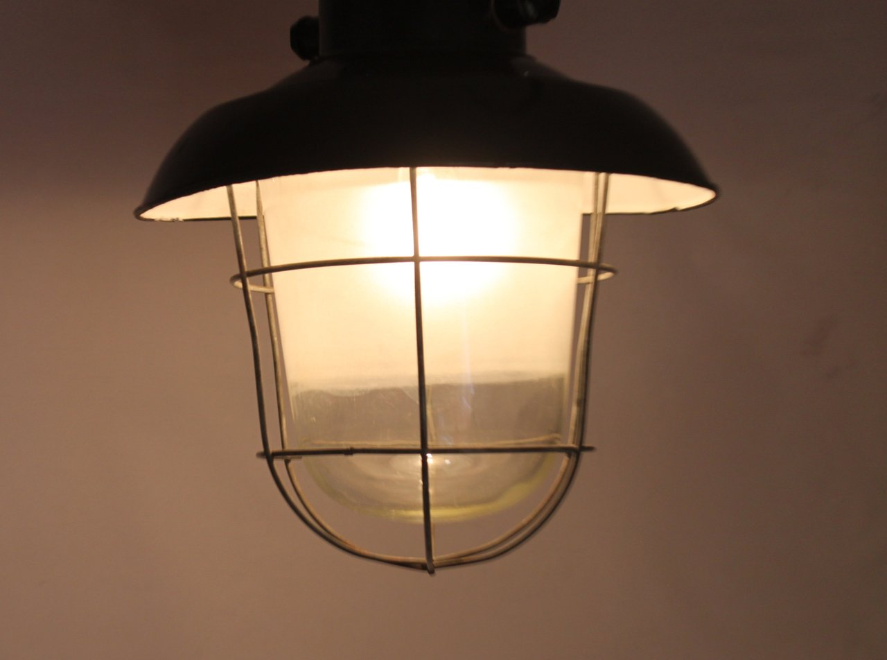 lampe deckenlampe industriedesign loft fabriklampe alte. Black Bedroom Furniture Sets. Home Design Ideas