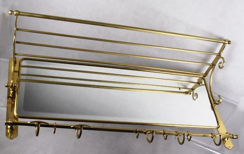 100 cm Jugendstil Wandgarderobe - Messing Garderobe - coat rack