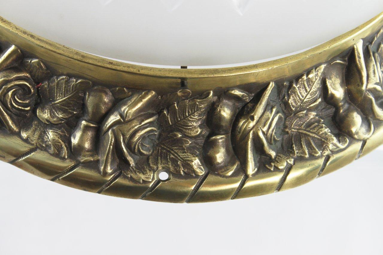 Deckenlampe Jugendstil Plafoniere : Große traumhafte jugendstil plafoniere lampe bronze top