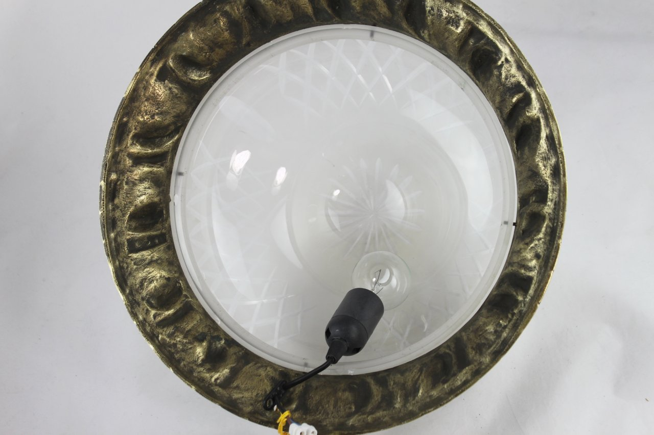 Plafoniere Deckenlampe : Große traumhafte jugendstil plafoniere lampe bronze top