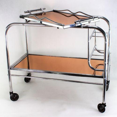 Barwagen ART DECO Servierwagen  Teewagen  Tablett  trolley