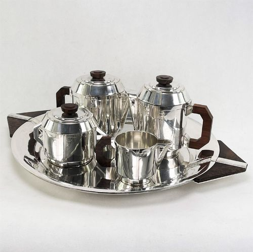 ART DECO Kaffee Set versilbert coffee service Boulanger